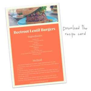 Beetroot Lentil Burgers recipe card download button